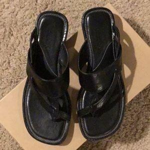 Clark's black sandals size 6